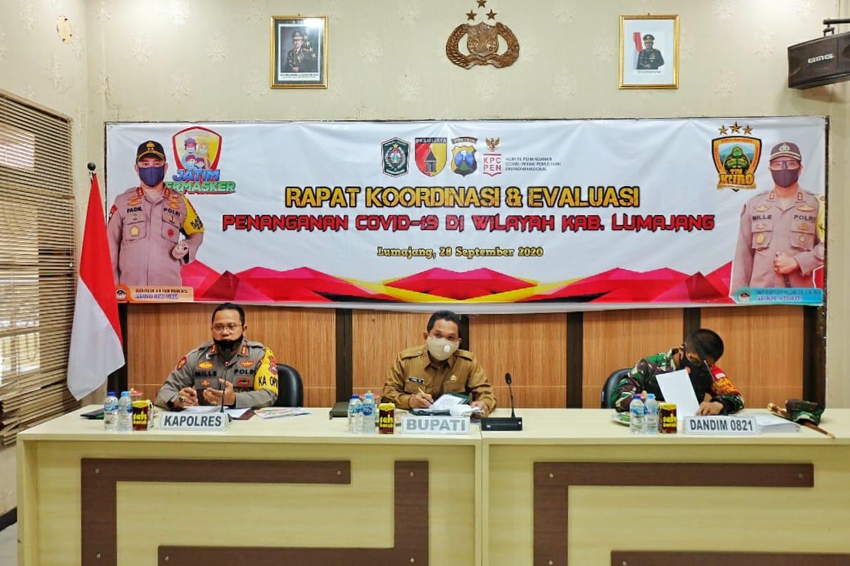 Forkopimda Kabupaten Lumajang Gelar Rapat Koordinasi dan Evaluasi Penanganan Covid-19