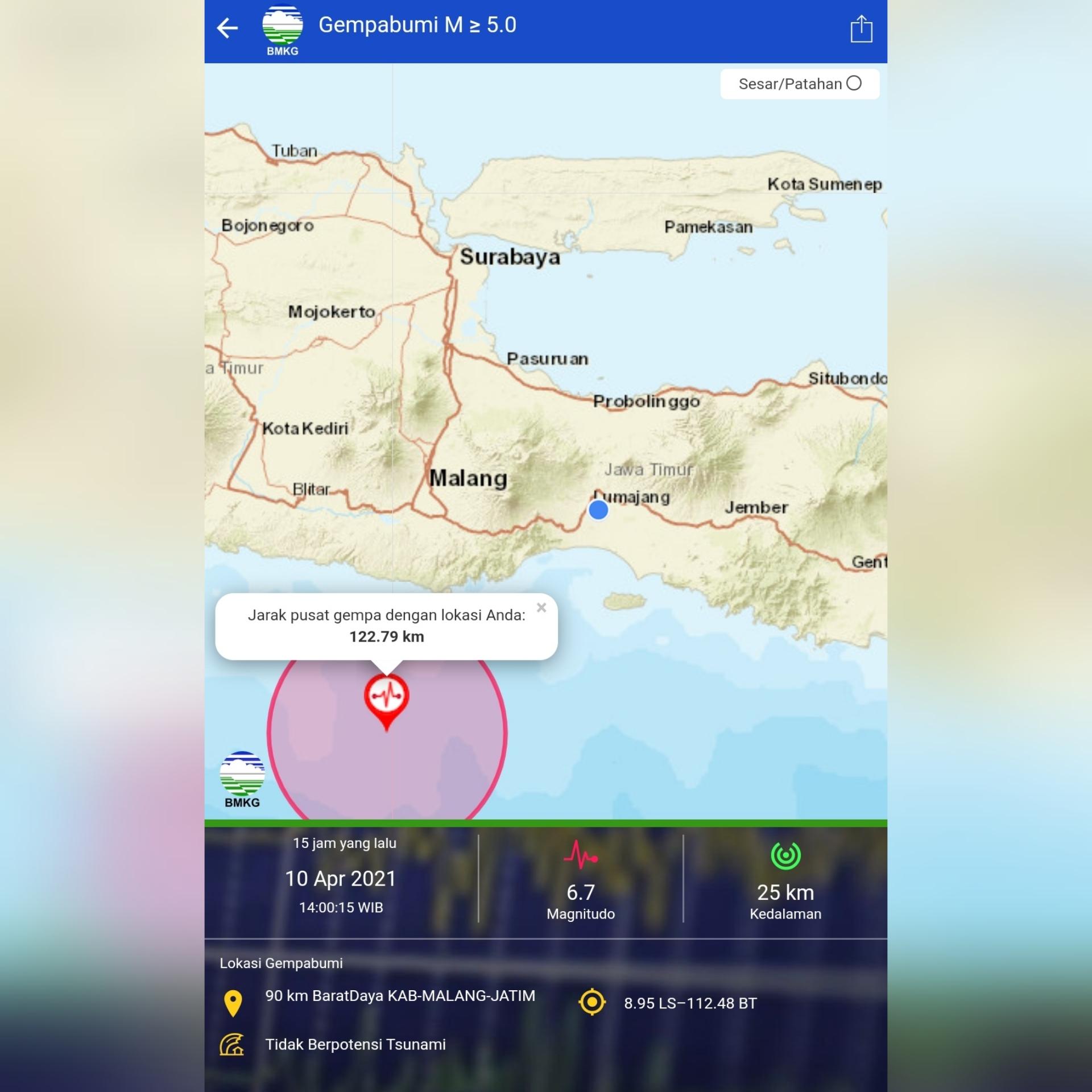 Hampir Separuh Wilayah Kabupaten Lumajang Terdampak Gempa