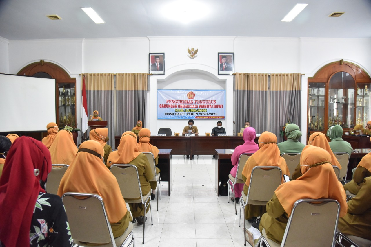 Bupati Hadiri Pengukuhan Pengurus GOW Kabupaten LumajangBupati Hadiri Pengukuhan Pengurus GOW Kabupaten Lumajang