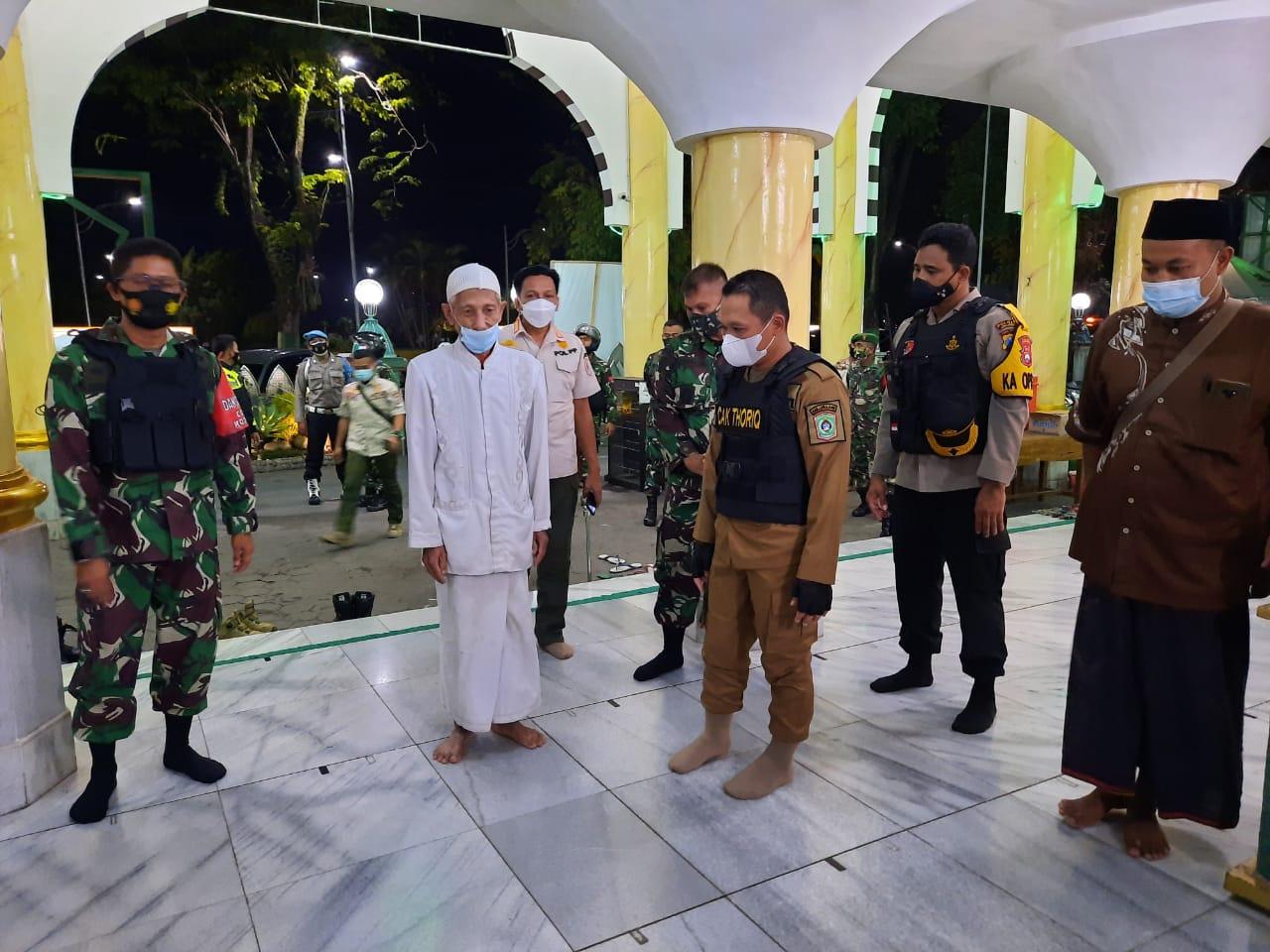 Crosschek Penerapan Protokol Kesehatan Menjelang Sholat Idul Fitri