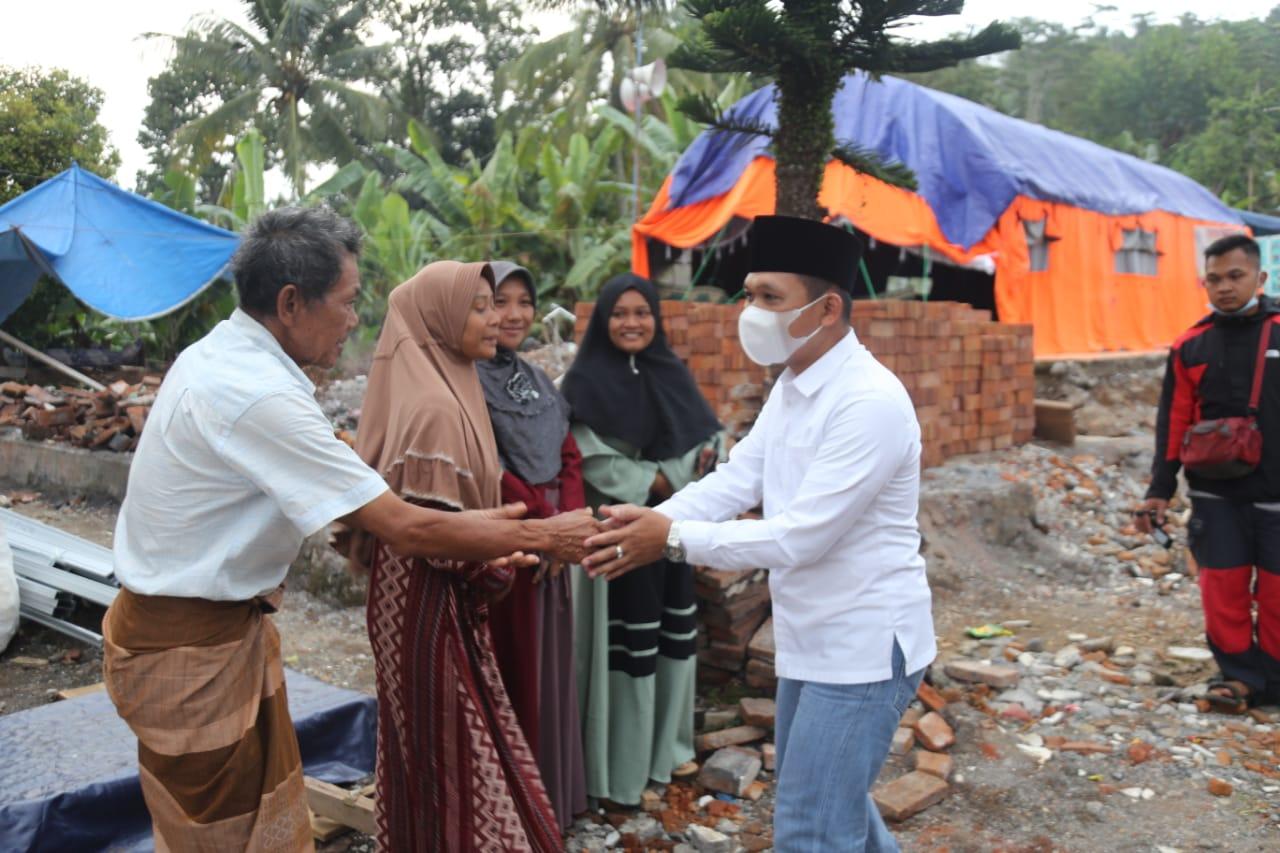 Bupati Lumajang Silaturahmi Ke Warga Terdampak Gempa Desa Kaliuling