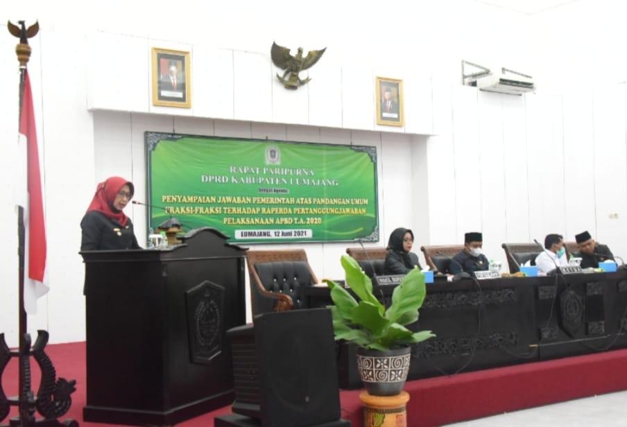 Wakil Bupati Sampaikan Jawaban Pemerintah Atas Pandangan Umum Fraksi-fraksi