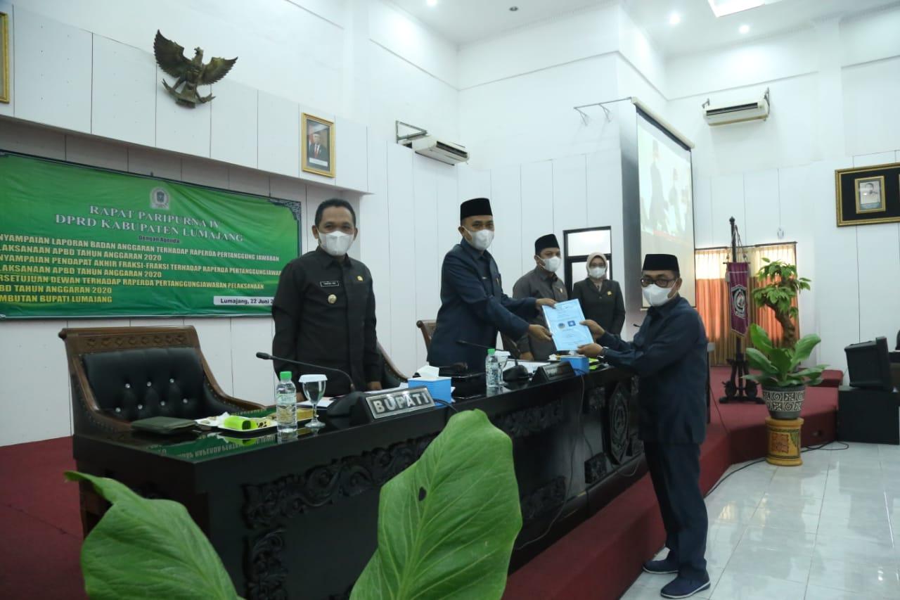 Bupati Hadiri Rapat Paripurna IV DPRD Kabupaten Lumajang