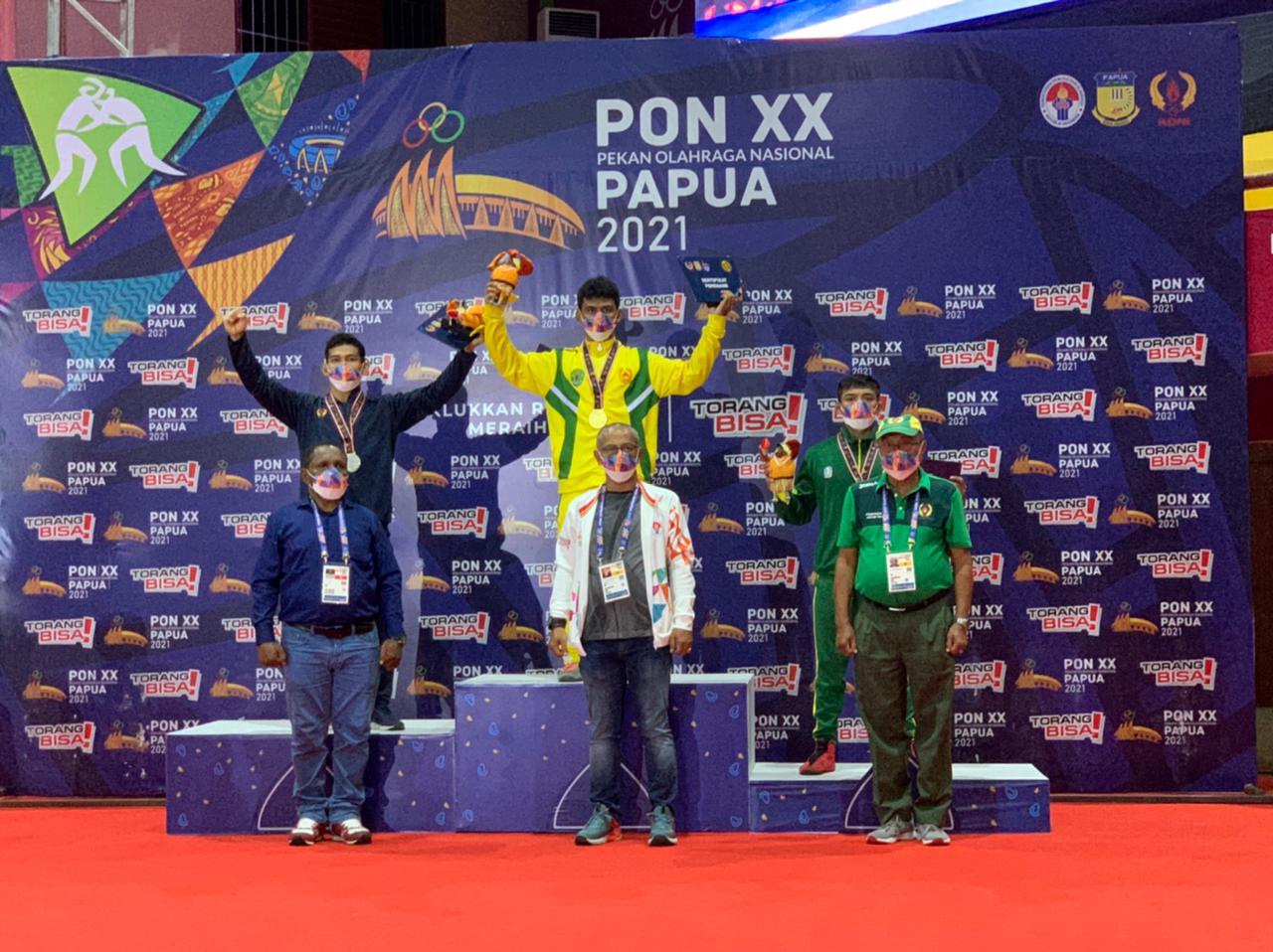 Atlet Lumajang Cabor Gulat Tambah Koleksi Medali PON XX Papua